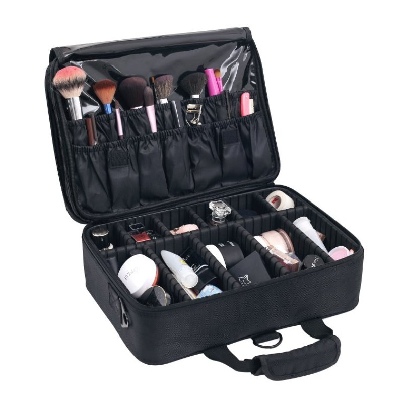 Fashion Multi-Storey Organizer Large Professional Portable Cosmetic Case With Cosmetic Bag Suitcases Make-up Beauty Makeup Bag цена 2017