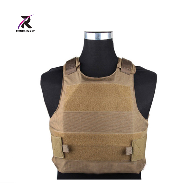 2017  RuoskyGear Assault Plate Carrier Tactical Vest Airsoft Painball Molle Combat Gear Coyote Best For Hunting Multicam EM7301 yuetor outdoor hunting men airsoft combat assault plate carrier vest colete tatico militar tactical molle multicam military vest