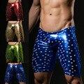 Los hombres de Moda Cortos Sexy Bolsa Pene Gay Bar Traje Nuevo Diseño Shorts Bottoms Shorts Imprimir Pantalones Cortos de Color Azul