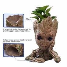 Baby Groot Flowerpot Flower Pot Planter Action Figures Guardians of The Galaxy Toy Tree Man Cute Model Toy Pen Pot Plant Pot