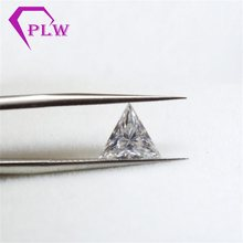Hot sale price test positive triangle moissanite 2carat 8 mm D color gem stone for bracelet ring earring from Provence jewelry(China)