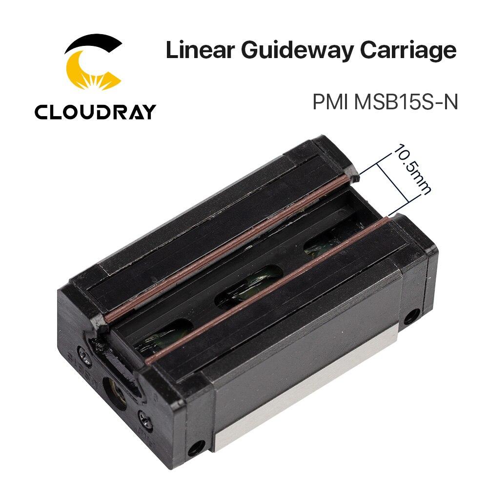 Taiwan PMI Linéaire Guidage Bloc De Transport MSB15S-N pour CO2 Laser Gravure Machine De Découpe - 3