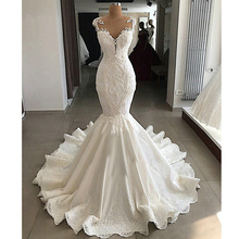 DLOVE BRIDAL Sexy Mermaid Wedding Dress Dresses with
