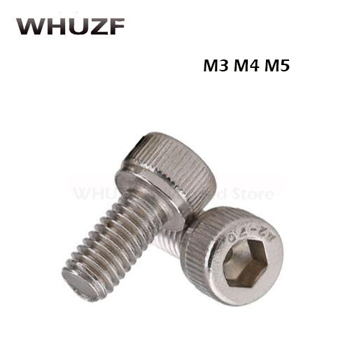 304 Stainless Steel M3 <font><b>M4</b></font> M5 Screws Allen Hex Socket Head Wood Screw Bolt Fastener M3/4/5*6/8/10/12/14mm/16mm/18mm/<font><b>20mm</b></font>/25mm image