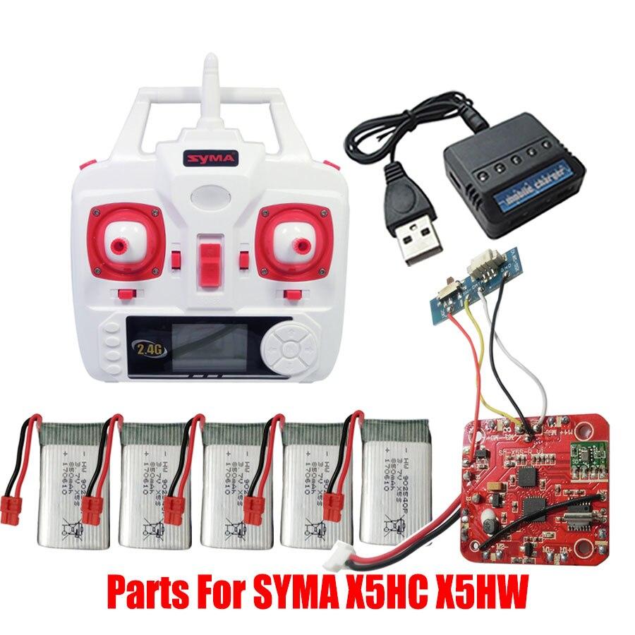 Syma 37v 850mah Li Battery Main Body Circuit Board Remote Control Switch 7 Remotecontrolcircuit For X5sw X5sc X5hw X5hc X5c Rc Helicopter Spare Parts