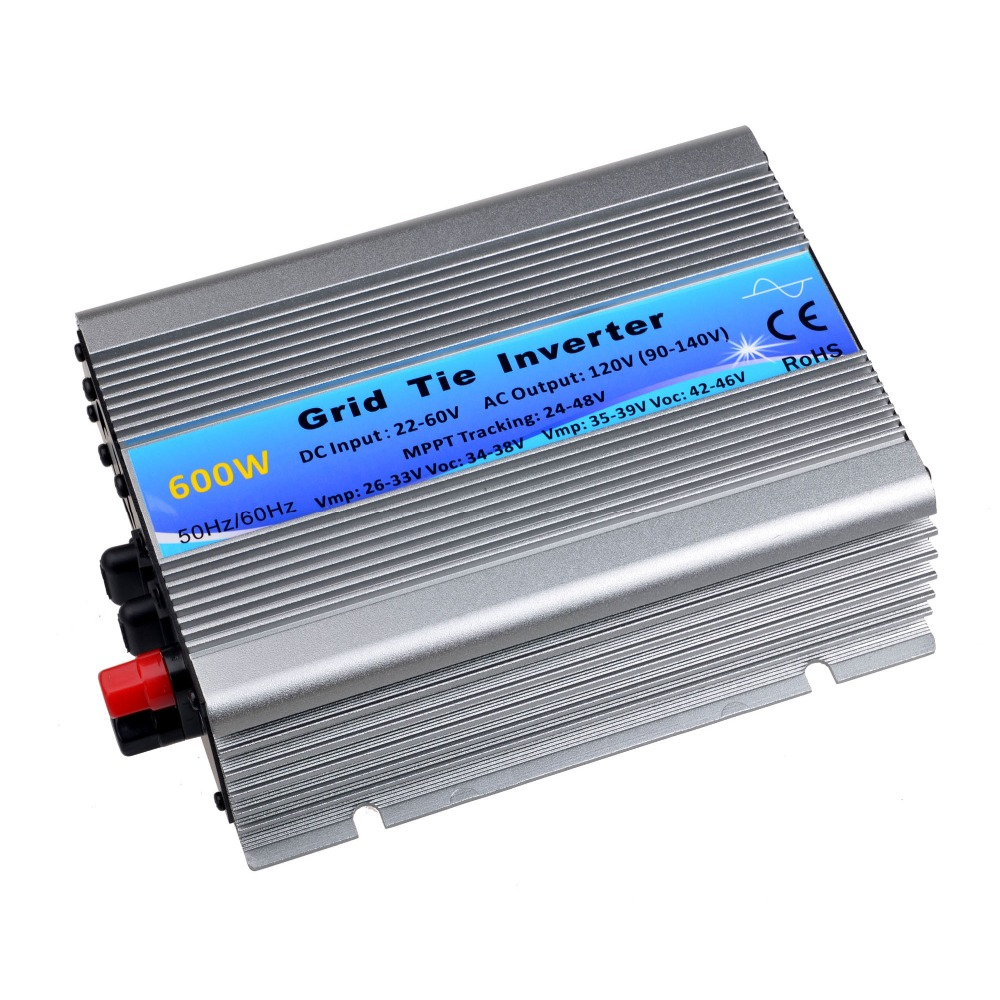 600W Solar Inverter Grid Tie Inverter DC22V-60V to AC120V Pure Sine Wave Power Inverter 50Hz/60Hz Auto CE Send from CN/AU 1500w grid tie power inverter 110v pure sine wave dc to ac solar power inverter mppt function 45v to 90v input high quality