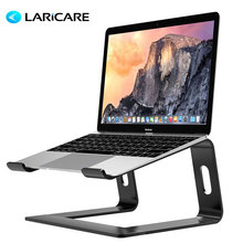 Laricar Laptop Stand Pemegang Aluminium Berdiri untuk MacBook Portable Laptop Stand Holder Dudukan Desktop Notebook PC Komputer Stand(China)