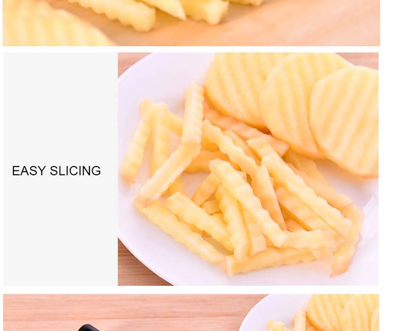 Potato Wavy Edged Knife Stainless Steel Kitchen Gadget Vegetable Fruit Cutting Tool Kitchen Accessories French fries machine