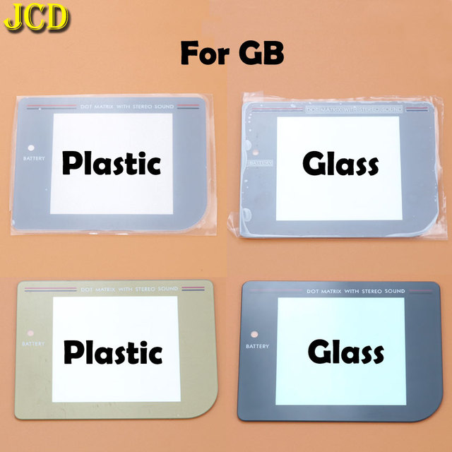 JCD 1Pcs New Glass Plastic Screen Lens cover For Nintend Gameboy Classic For GB Lens Protector