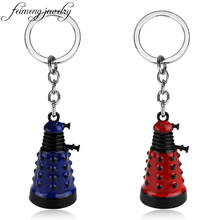feimeng jewelry Doctor Who Keychain Mysterious Dr Dalek Alien Robot Metal Keyring Men Fashion Car Key Chain Chaveiro