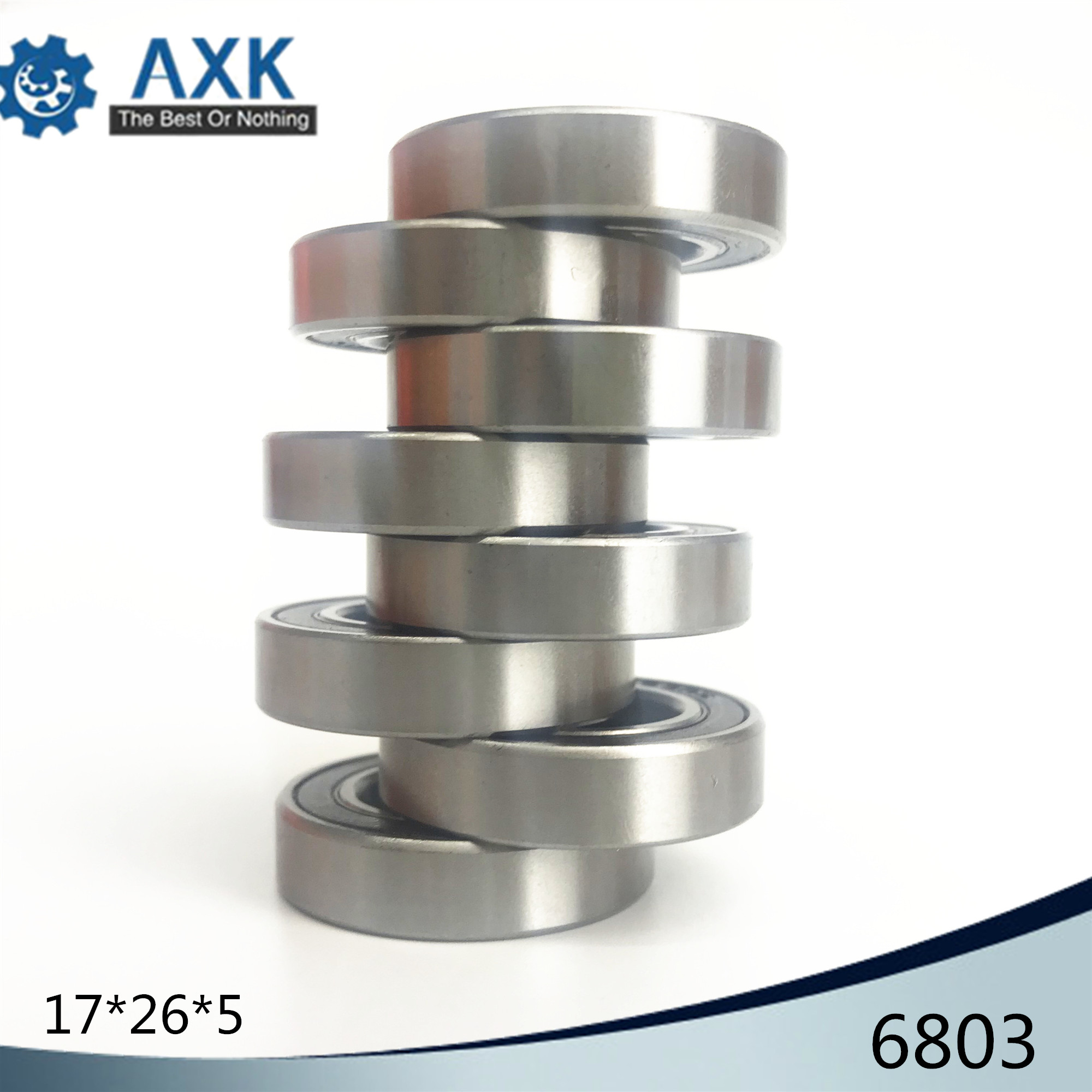 6803 Hybrid Ceramic Bearing 17x26x5 mm ABEC-1 ( 1 PC ) Bicycle Bottom Brackets & Spares 6803RS Si3N4 Ball Bearings6803 Hybrid Ceramic Bearing 17x26x5 mm ABEC-1 ( 1 PC ) Bicycle Bottom Brackets & Spares 6803RS Si3N4 Ball Bearings
