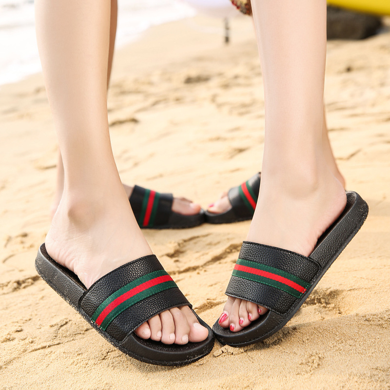 Lovers Home Slippers Black White Slippers Women Summer Lightweight Home Shoes for Women Plus Size Soft Shoes size 36-45