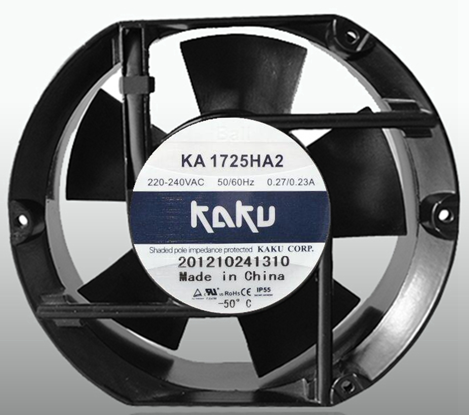 Taiwan KAKU Fan KA1725HA2B 1750 220V Double Ball Bearing Fan AC Fan