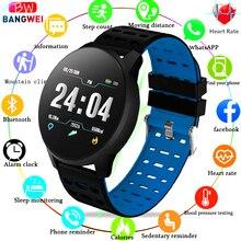 LIGE 2019New Smart health Bracelet Blood Pressure Heart Rate Sport Mode Watch Men Women fitness waterproof Wristband