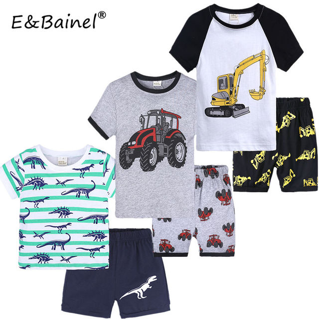 5d8a8f1f9d76 Bobo Choses 2019 Summer Baby Boys Girls T-shirt Cotton Short Sleeve Shorts  Pants Children's Clothing Tees Kids Clothes Set 1-7 Y