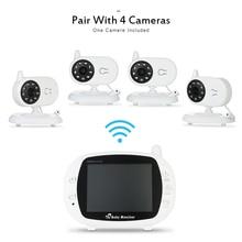 Elektroniczna Niania Kamera Video Monitor 2.4 GHz Bezprzewodowy Niania Elektroniczna z Kamerą dwukierunkowy dźwięk Automatyczne Widzenie Nocne LCD 3.5″ Monitorowanie temperatury w pomieszczeniu