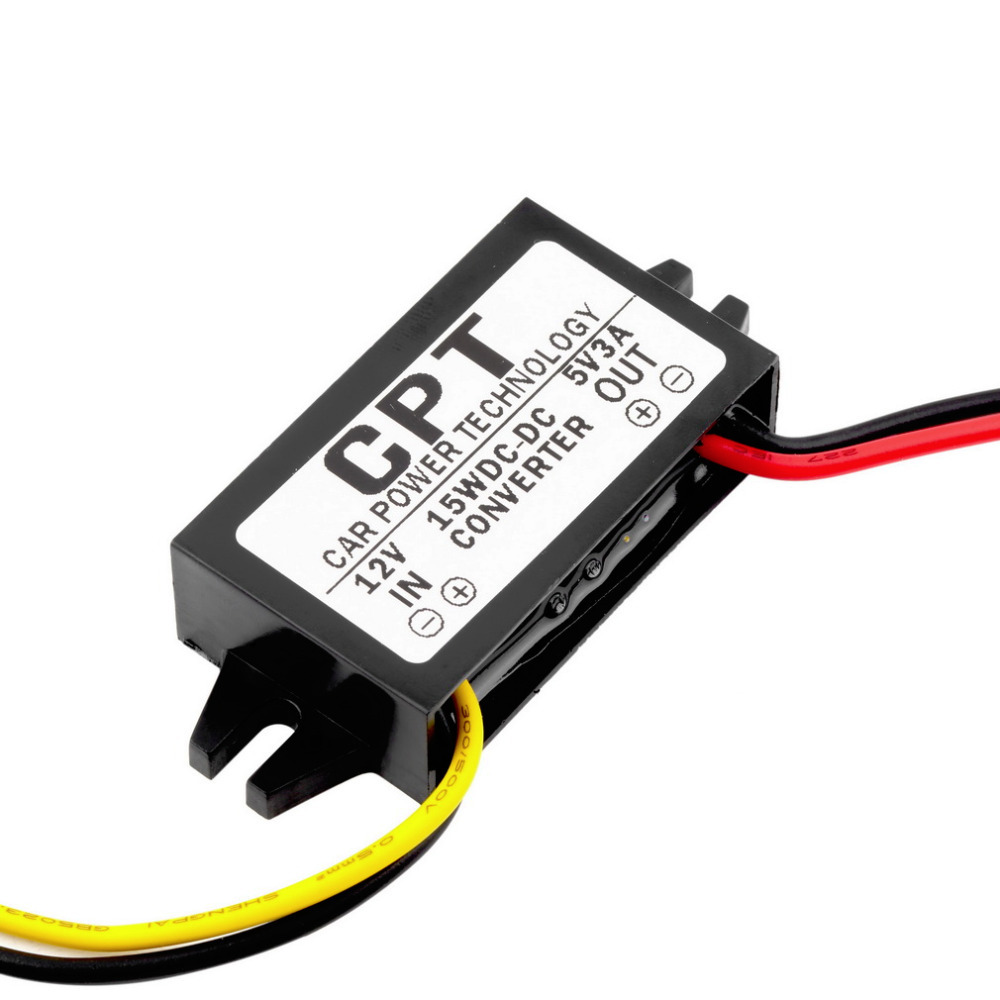 AC/DC <font><b>Adapters</b></font> 1PCS DC/DC Converter Regulator <font><b>12V</b></font> to 5V <font><b>3A</b></font> 15W Car Led Display Power dropshipping image