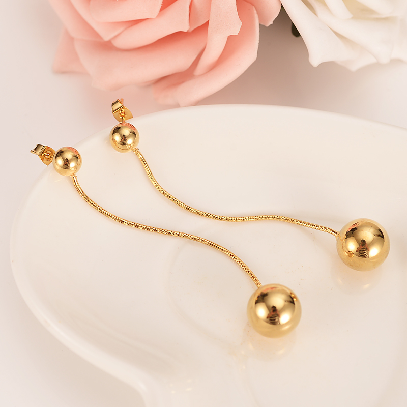 Bangrui Beads Earrings for Women/Girls Gold Color Ball Earing Jewelry Gifts African,Indonesia,Nigeria,Congo,Arab Earring(China)