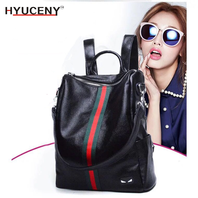2018 New Women Backpack High Quality Youth Leather Backpacks for Teenage Girls Female School Shoulder Bag Rucksack mochila high quality backpacks for women laptop bag printing school backpack bag for teenager girls rucksack masculina female mochila