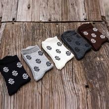 New Autumn Men Novelty Men's Long Cotton Socks Harajuku Money Dollar Patterned F
