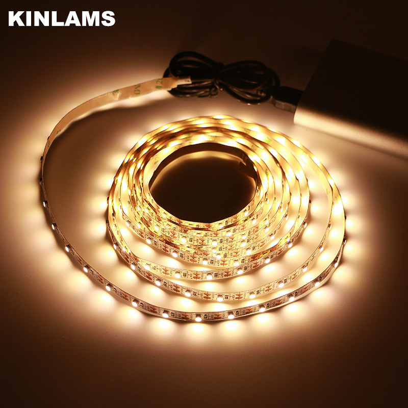 KINLAMS LED Strips Cable USB Power 5V lámpara de luz Navidad Campamento al aire libre en interiores luces brillantes decorativas