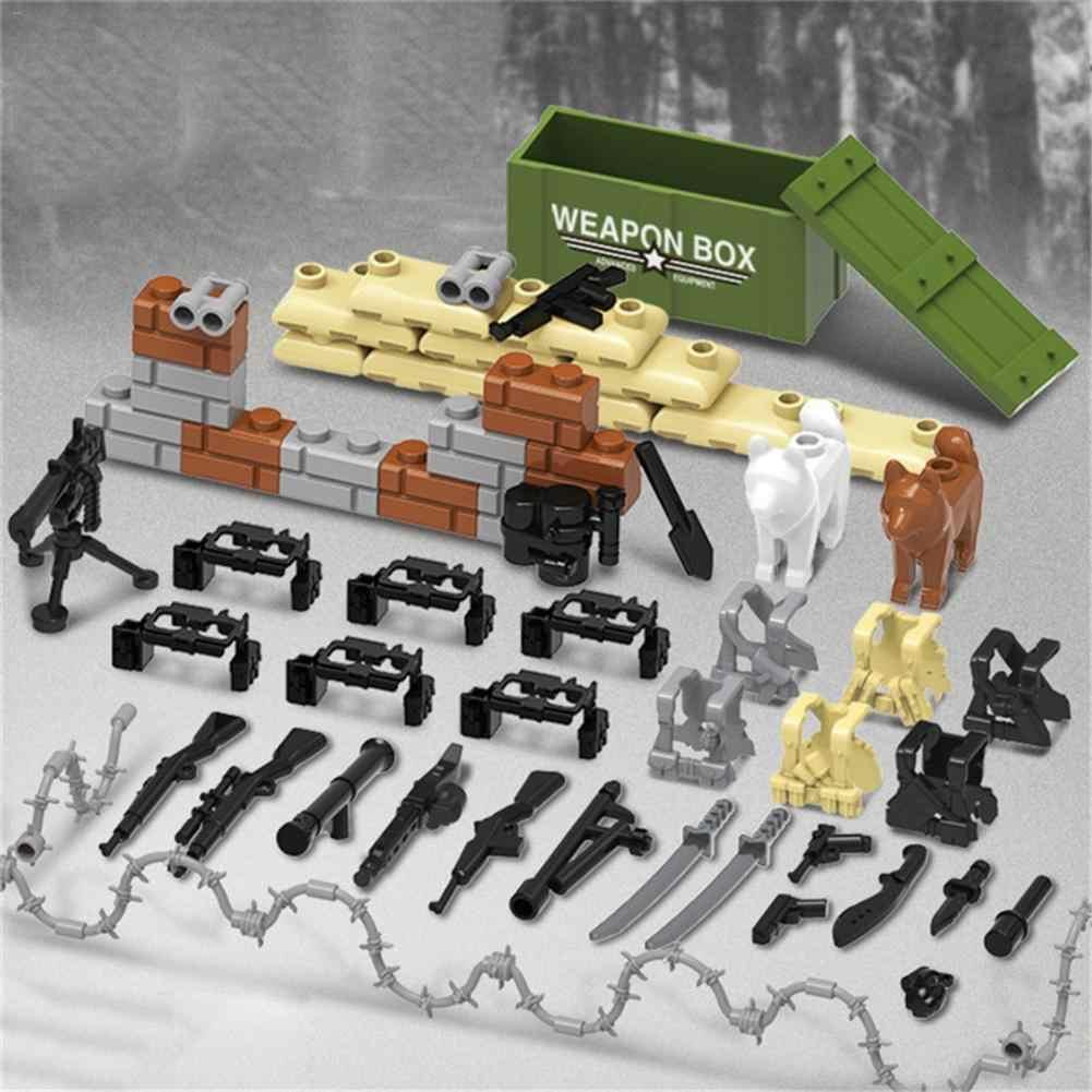 В продаже полицейские военные фигурки солдат; Армия пистолет оружие Современная война конструктор кирпич legoed для детей игрушка