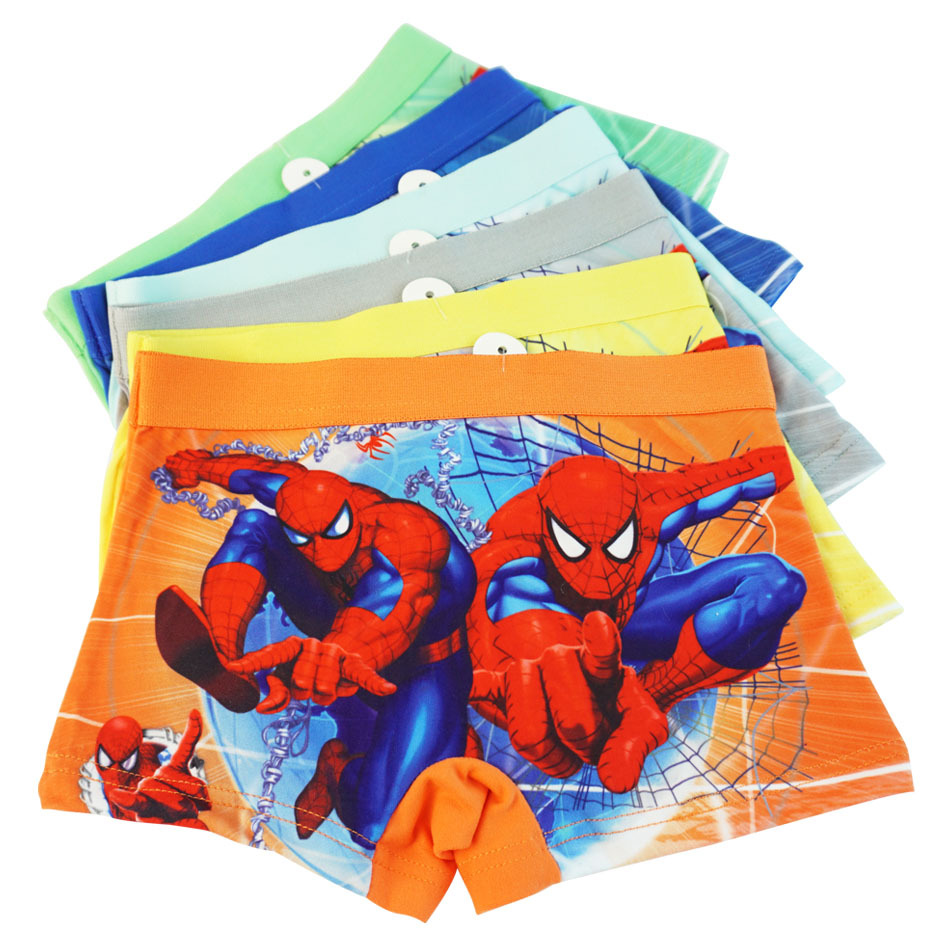 Marvel Boys Cotton Underwear Movie Comic Boxers Underpants Super Hero Spiderman Kids Cotton Panties Male Under Wear Briefs