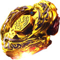 1 unids Beyblade Metal Fusion 4D Establece L-DRAGO ORO DF105LRF + Lanzador Juego de Niños Juguetes de Navidad Regalo Giroscopio S40