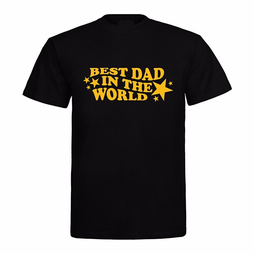 New 2019 Cotton Short-Sleeve Summer Mens Print T-Shirt Vatertag Geburtstag Geschenk Best Dad in the World Movie T shirt