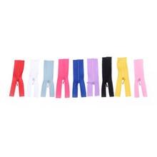 5 pçs/lote colorido diy artesanal costura scrapbooking vestuário applique acessório mini zíper boneca roupas zíper