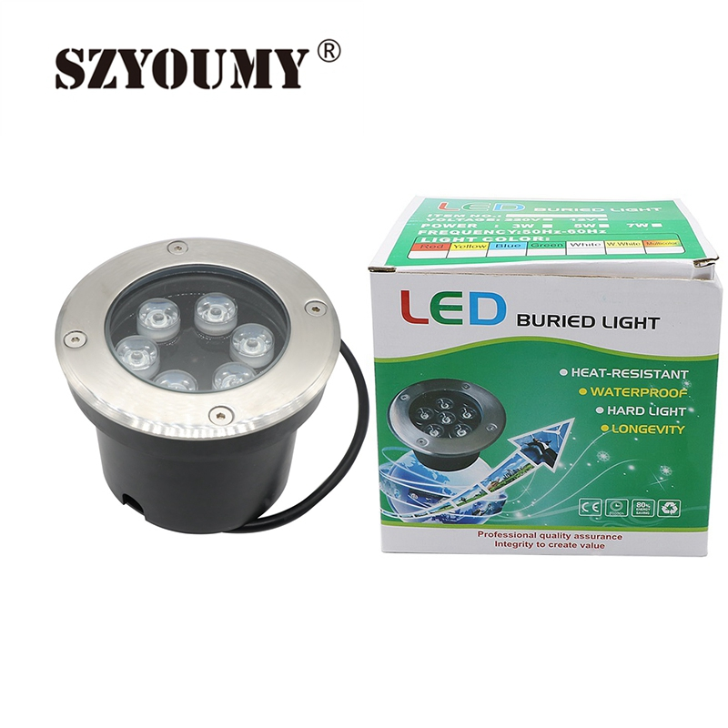 Szyoumy 6w Rgb With Controller Led Outdoor Ground Garden Floor Underground Buried Lamp Spot Landscape Light Ac 85-265v Ip67 Lights & Lighting Led Underground Lamps