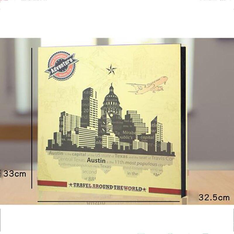 Auto-adhésif Album Photo bricolage fait à la main Album faisant créatif romantique Couple rétro Vintage Album de bricolage Scrapbook cadeaux d'anniversaire