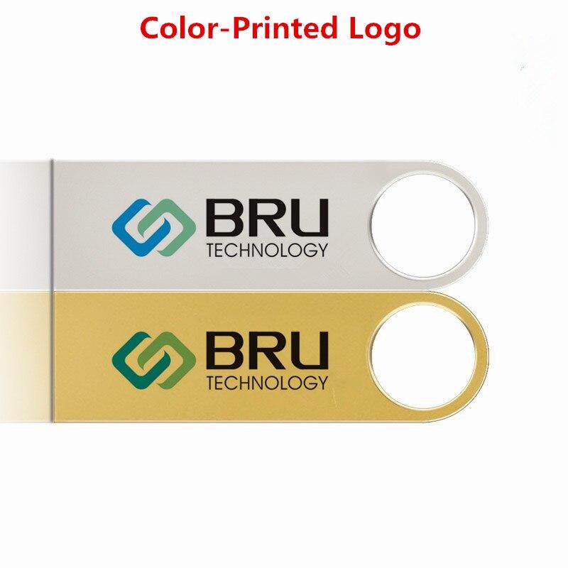 BRU 8GB USB Flash Drive Mini Metal արծաթե անջրանցիկ - Արտաքին պահեստավորման սարքեր - Լուսանկար 6
