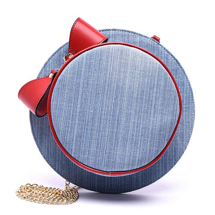 Fashion Women Messenger Bag Chain Hat Denim Shoulder Bag Ladies Famous Designer Casual Bags Cute Cap Shape Small Shopping Bolsas japanese pouch small hand carry green canvas heat preservation lunch box bag for men and women shopping mama bag