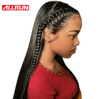 Allrun Malaysian Human Hair Straight 360 Lace Frontal Wigs For Women Full End non remy Hair 360 Short Front Wig Free Shipping