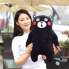 Japan Mascot Kumamon bear plush toy for children gift Lovely doll pillow High quality and low