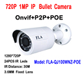 720P POE IP Bullet Camera HD Mini IR Waterproof IP66 CCTV Security video Surveillance onvif Camaras p2p cloud phone view online