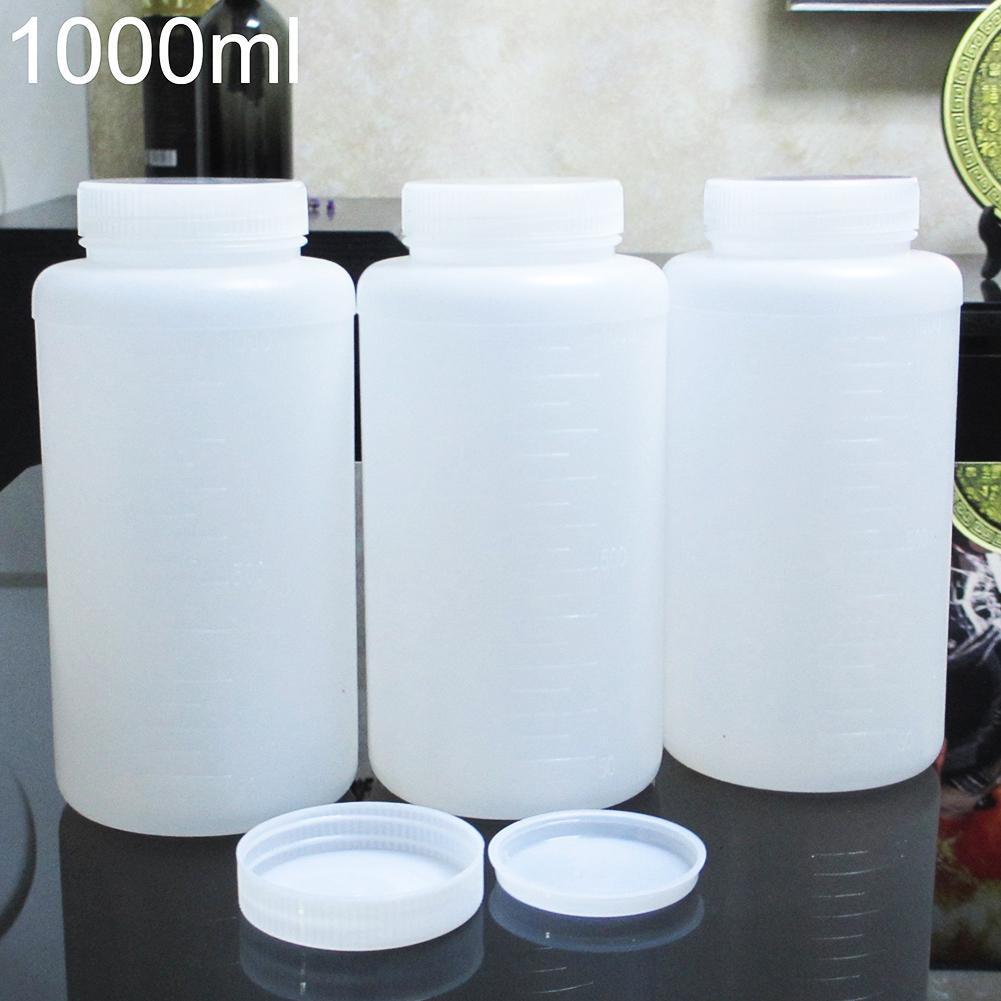 1000ml Plastic Storage Bottle For Chemical Liquid Vial Reagent Lab Supply Empty Fashion