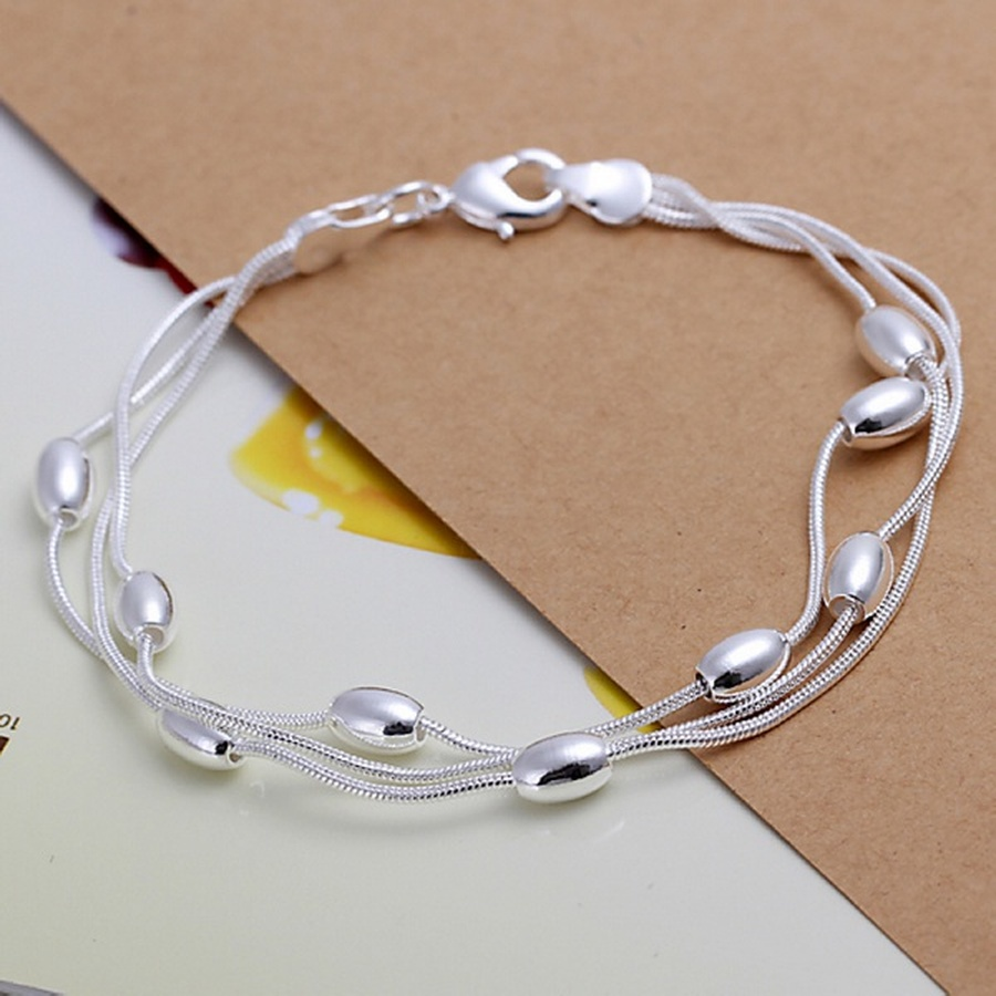fashion design product beautiful Silver color Jewelry High quality Bracelet bead chain women lady wedding with , H236