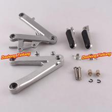 Aleación de aluminio Trasero de Pasajeros Estriberas Reposapiés Soportes para HONDA 1990-1997 CBR250 MC22, motocicleta piezas de Repuesto Accesorios