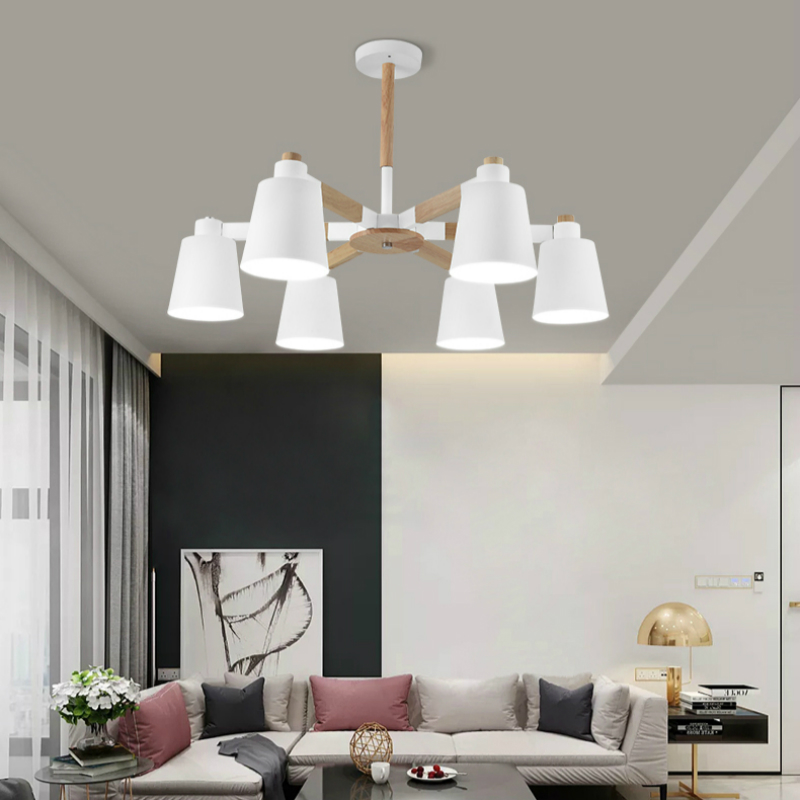 Nordic wood Ceiling Lights living room personality postmodern minimalist style creative lighting restaurant bedroom solid