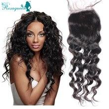 7A Brazilian Loose Wave Silk Base Closure Middle /Free /3 Part Brazilian Virgin Hair Loose Curly Wave Silk Base Lace Closure