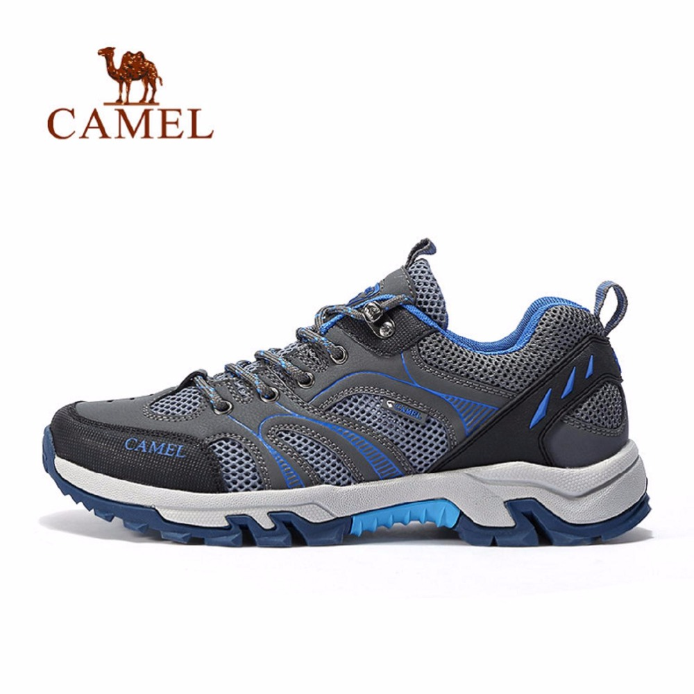 CAMEL Outdoor Sport Men walking Shoes Sneakers Shock Absorption Wear-resistant Anti-skid Breathable Low Lace up Shoes old school hip hop basketball shoes anti skid ankle boots shockproof outdoor sneakers wear resistant sport shoes
