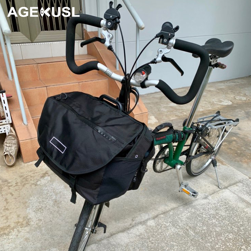 TWTOPSE Rainproof Bike S Bags For Brompton Bag Folding Bicycle Bags Vegetable Luggage Basket With Waterproof