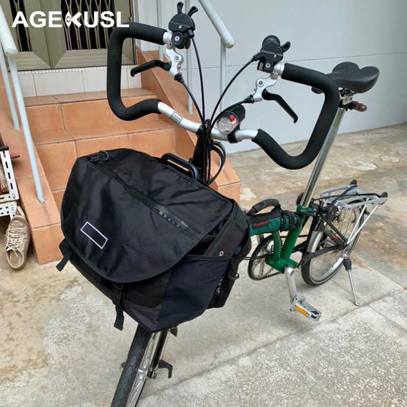 TWTOPSE Rainproof Bike S Bags For Brompton Bag Folding Bicycle Bags Vegetable Luggage Basket With Waterproof Cover Accessory