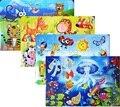 63 шт./компл. детские мультики landscapr т бумаги самолет головоломки ума Игрушки 37.5 см * 26 см puzzlemaker с 12 цветов