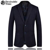 Mens Wool Blazers Plus Size S 4XL Fashion Men's Black Suit Jackets Slim Fit Man Blazer Casual Business Woolen Blazer Men DT354