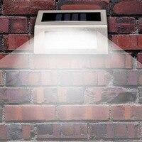 4 Paket Solar Power LED Licht Pathway Pfad Schritt Treppe Wand Garten Lampe Im Freien Wasserdichte Solar Licht