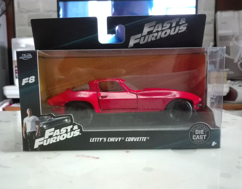 Fast And Furious-LETTY /'S Chevy Corvette 1:36 Scala Die Cast Model