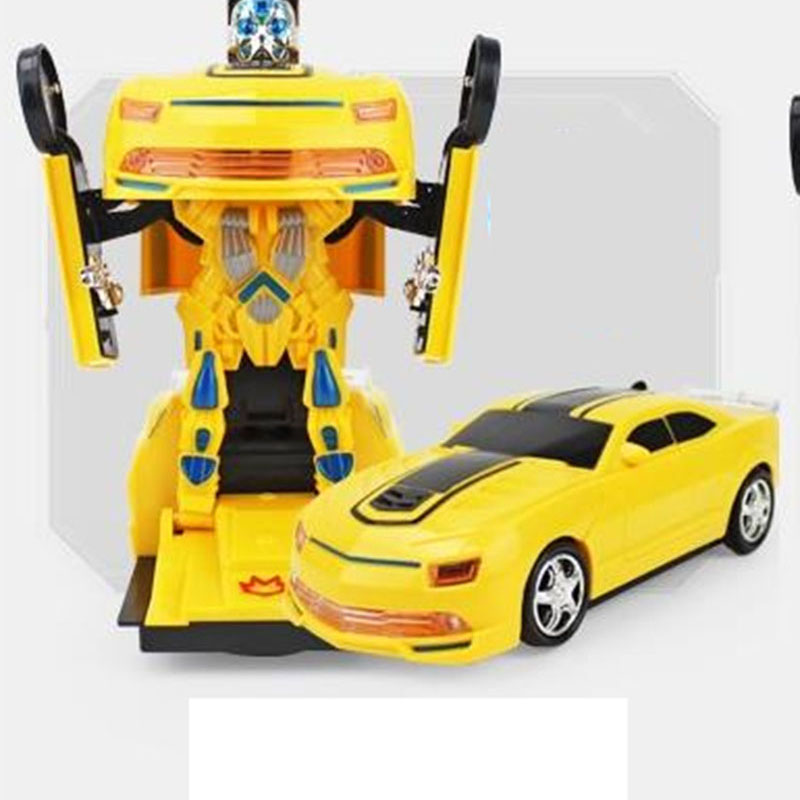 Robot Toy Transformation Anime Car Plastic Model Cool Light & Sound Electric Toy Fun New Years Gift Toy For Kids Children